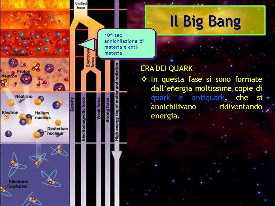 Il Big Bang ERA DEI QUARK