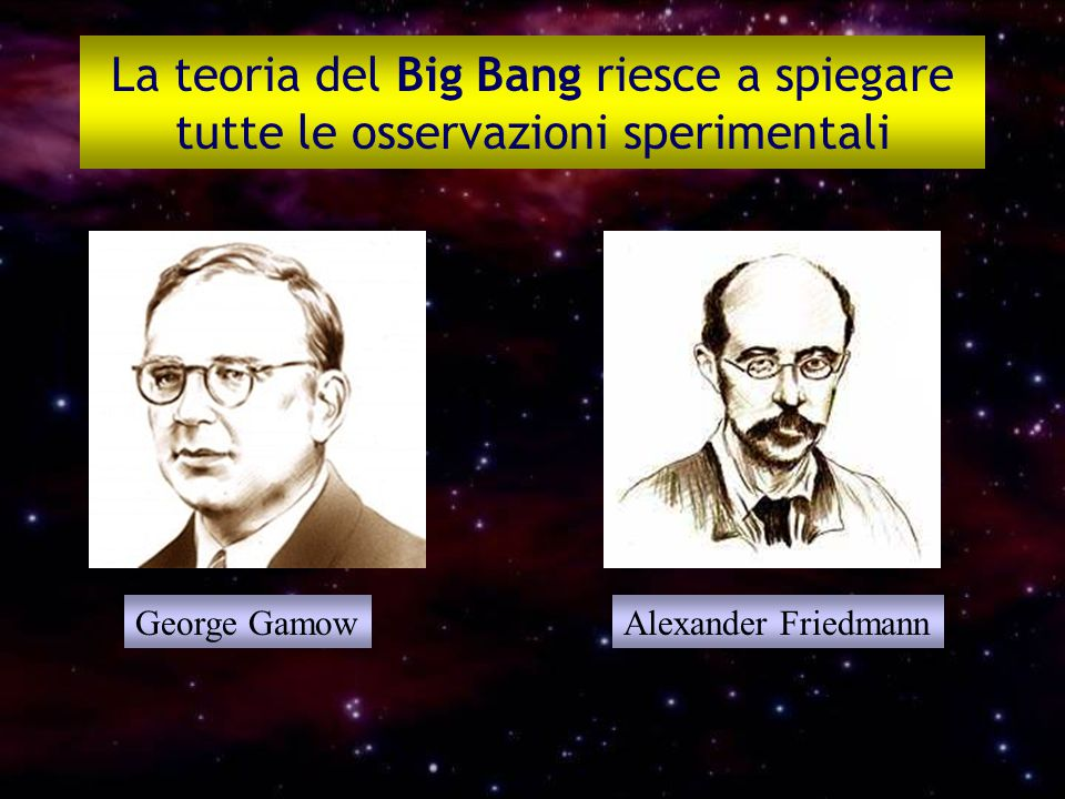 La teoria del Big Bang riesce a spiegare tutte le osservazioni sperimentali