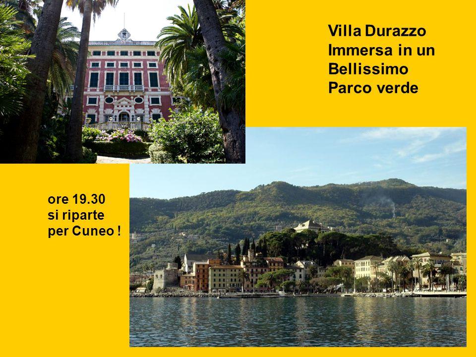 Villa Durazzo Immersa in un Bellissimo Parco verde ore 19.30