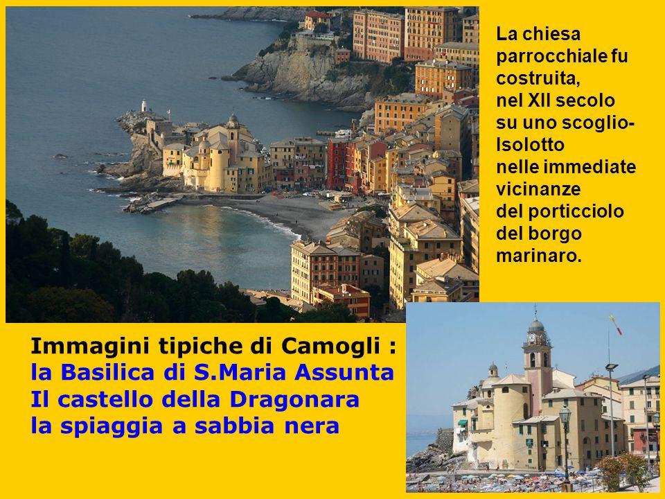 Immagini tipiche di Camogli : la Basilica di S.Maria Assunta