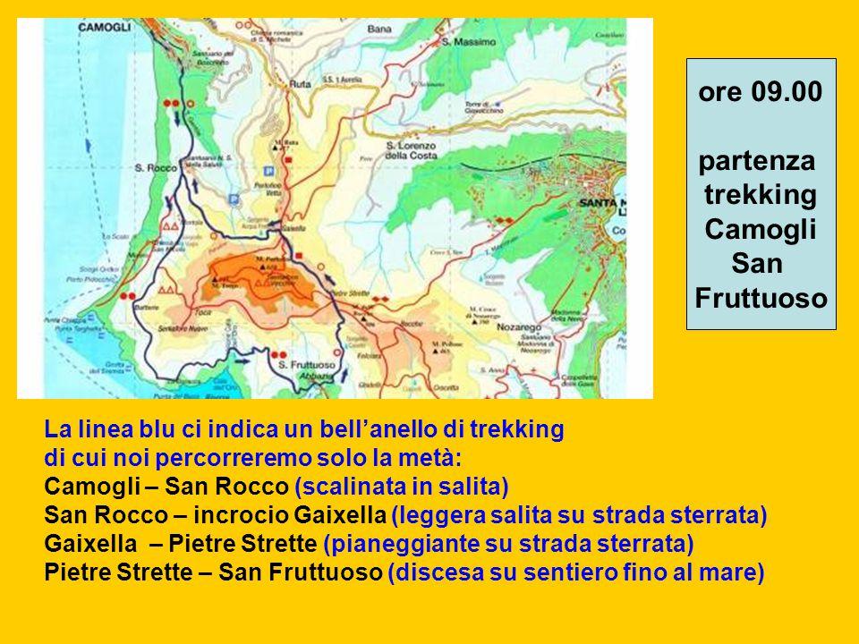 ore 09.00 partenza trekking Camogli San Fruttuoso