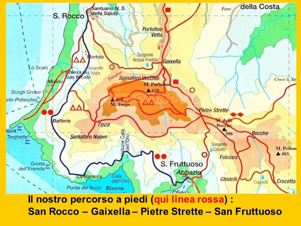 Il nostro percorso a piedi (qui linea rossa) :