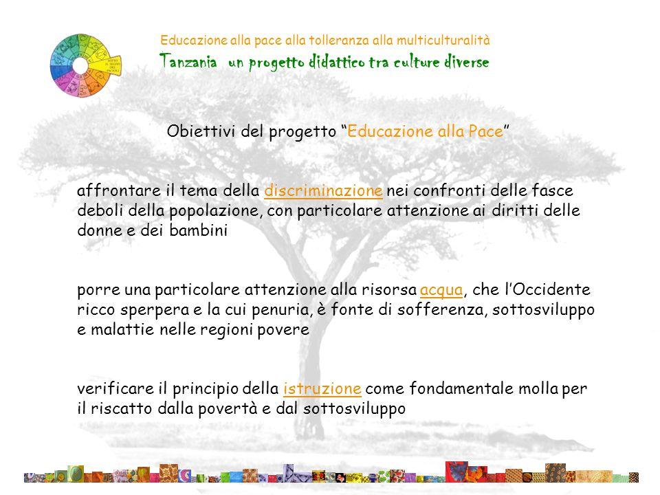 Obiettivi del progetto Educazione alla Pace
