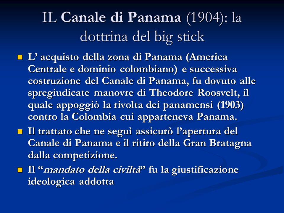 IL Canale di Panama (1904): la dottrina del big stick