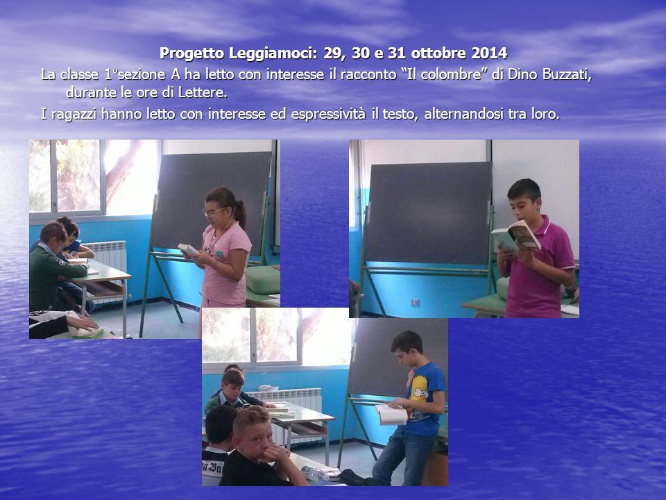 Progetto Leggiamoci: 29, 30 e 31 ottobre 2014