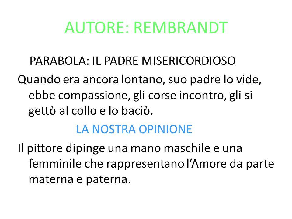 AUTORE: REMBRANDT