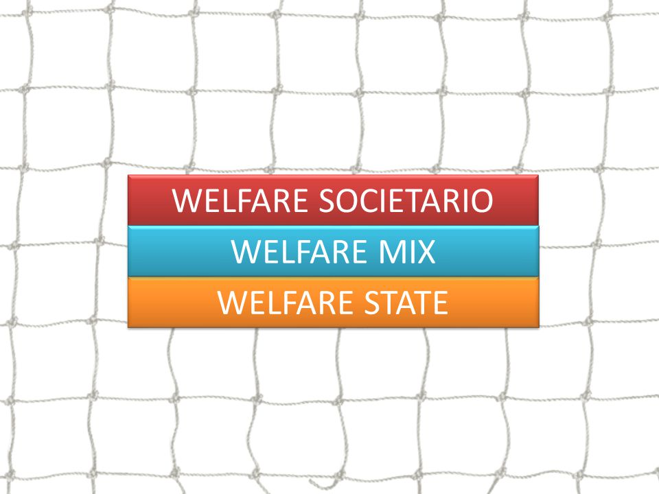 WELFARE SOCIETARIO WELFARE MIX WELFARE STATE