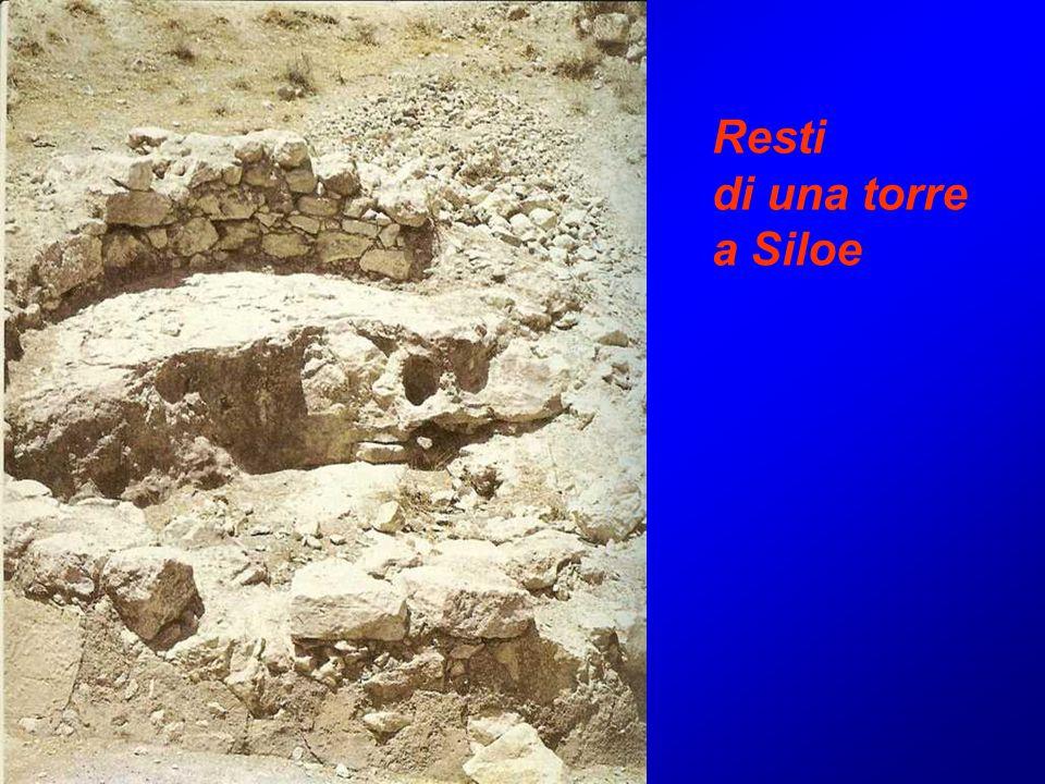 Resti di una torre a Siloe