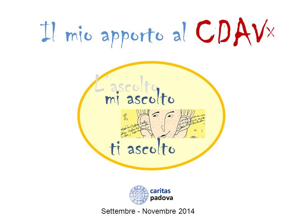 CDAVX Il mio apporto al L'ascolto mi ascolto ti ascolto