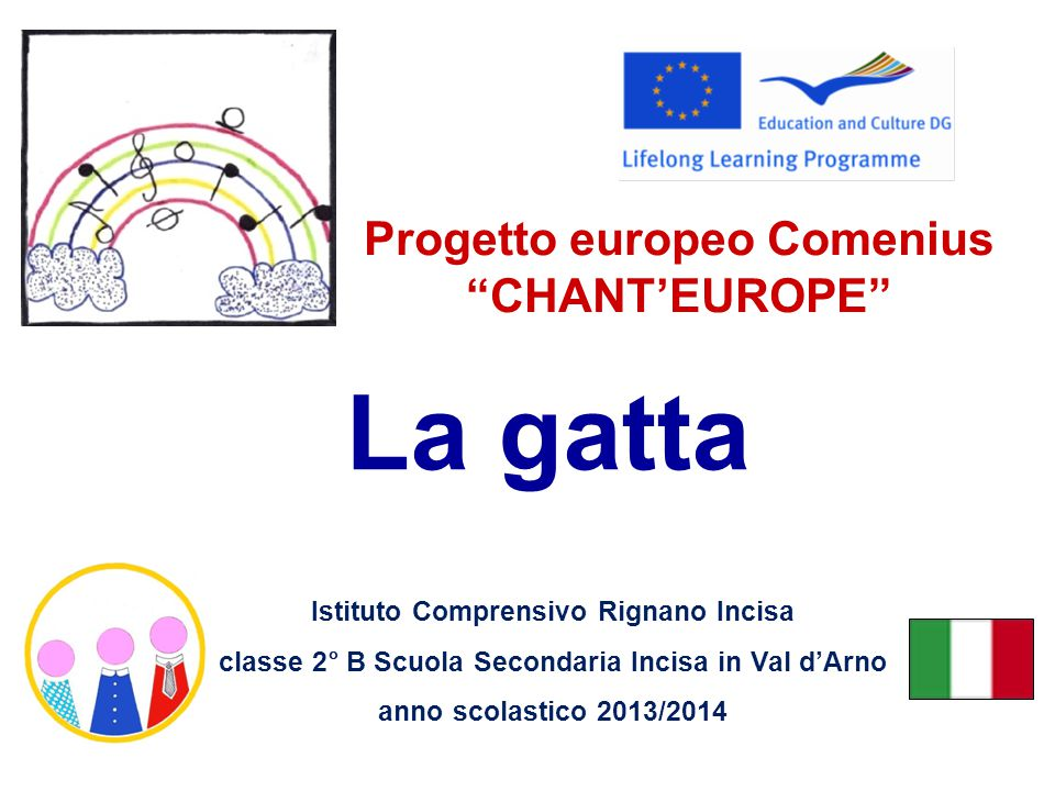 Progetto europeo Comenius CHANT'EUROPE