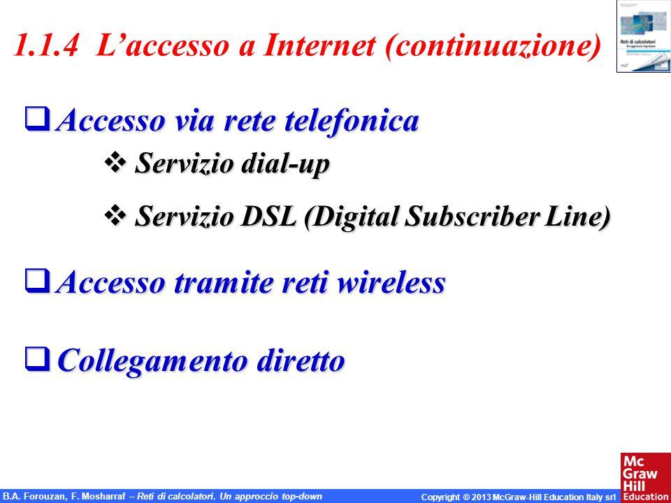 1.1.4 L'accesso a Internet (continuazione)