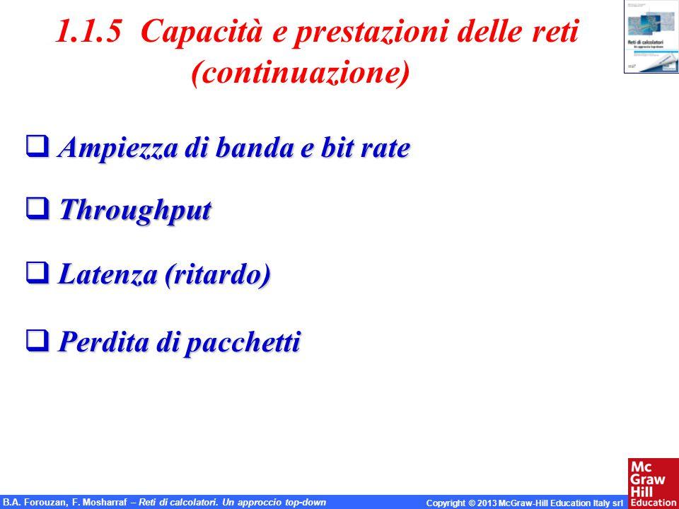 1.1.5 Capacità e prestazioni delle reti (continuazione)