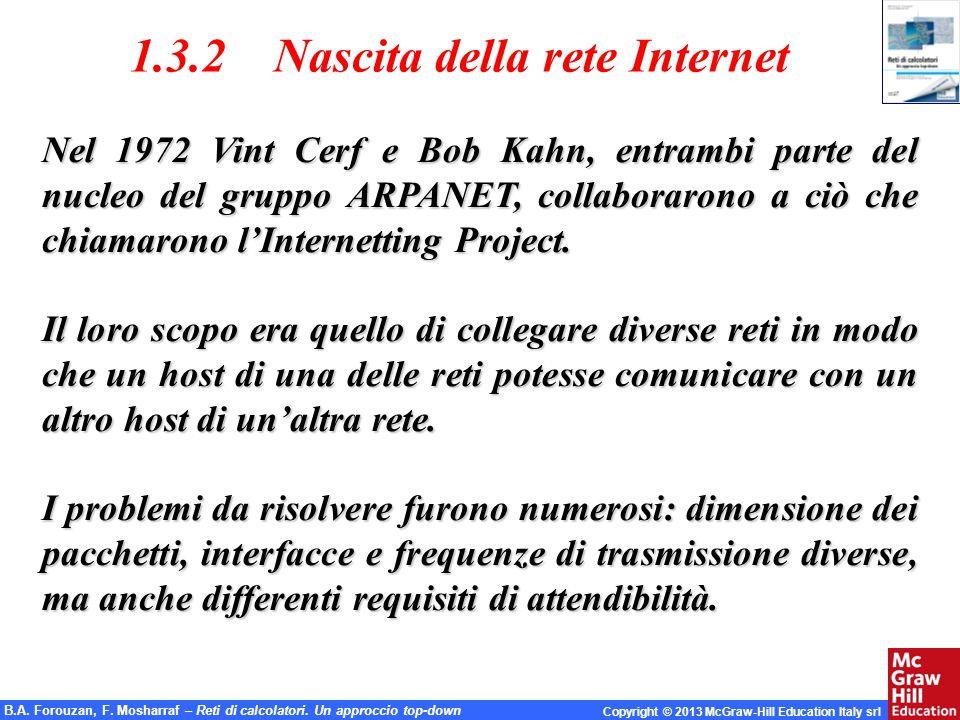 1.3.2 Nascita della rete Internet