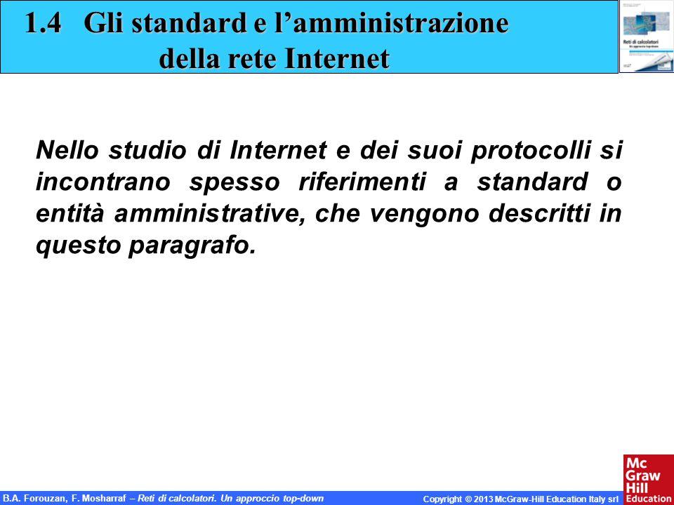 1.4 Gli standard e l'amministrazione della rete Internet