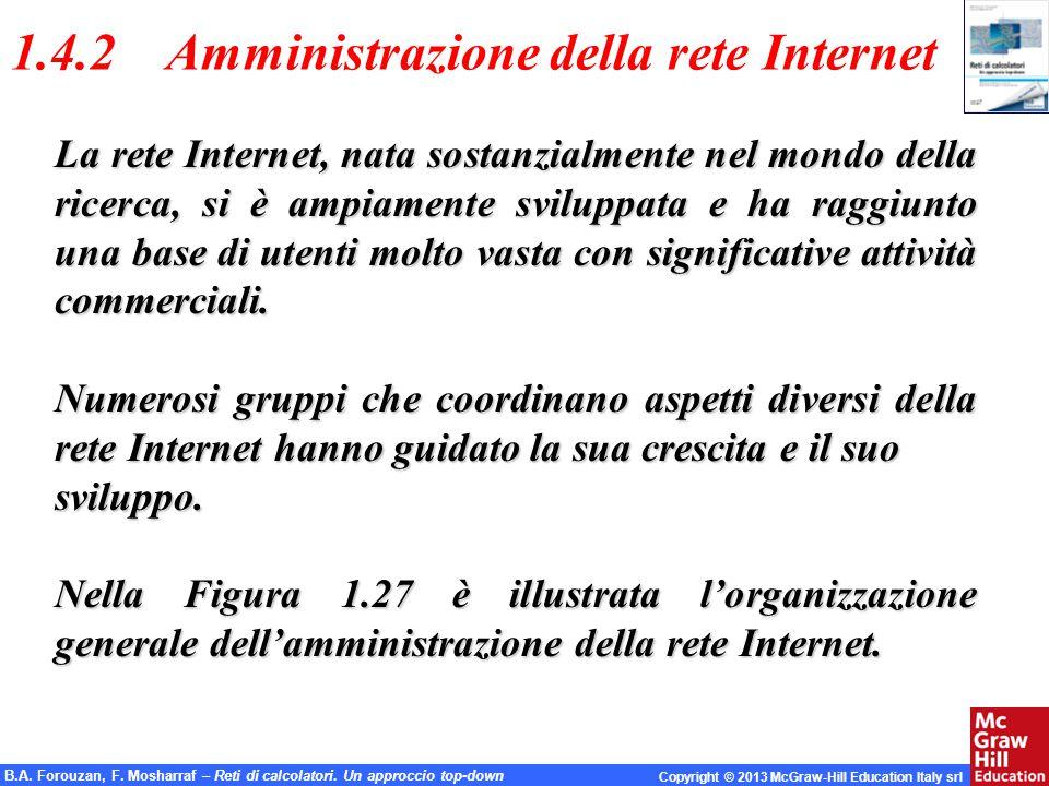 1.4.2 Amministrazione della rete Internet