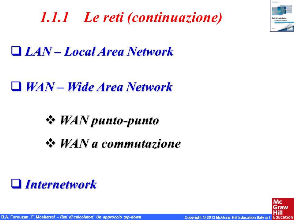 1.1.1 Le reti (continuazione)