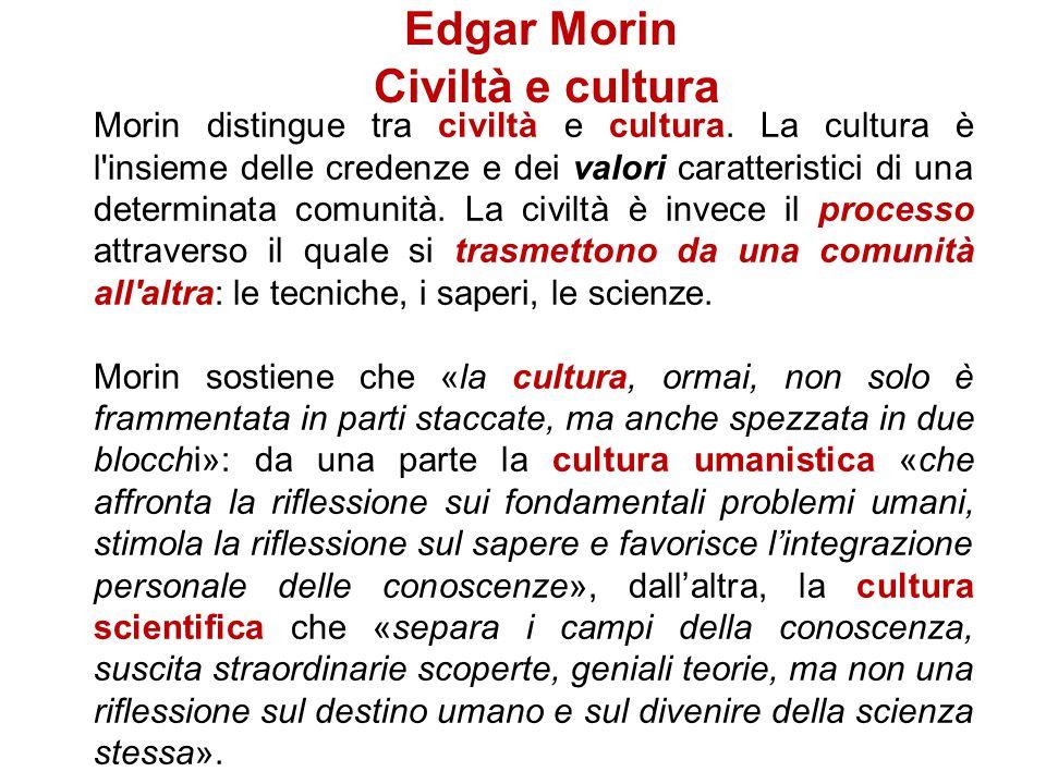 Edgar Morin Civiltà e cultura