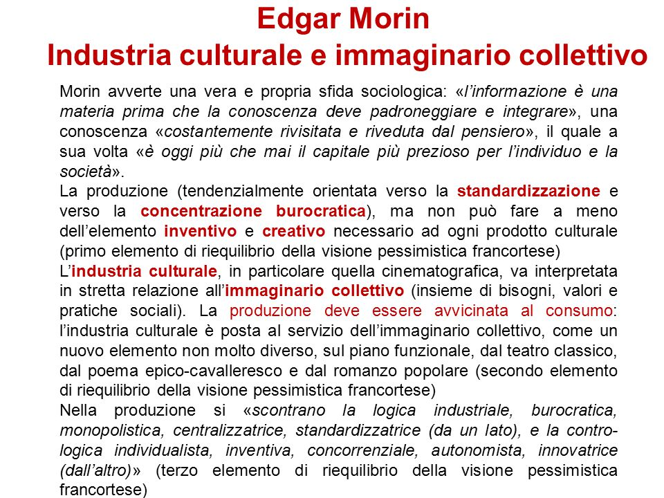 Industria culturale e immaginario collettivo
