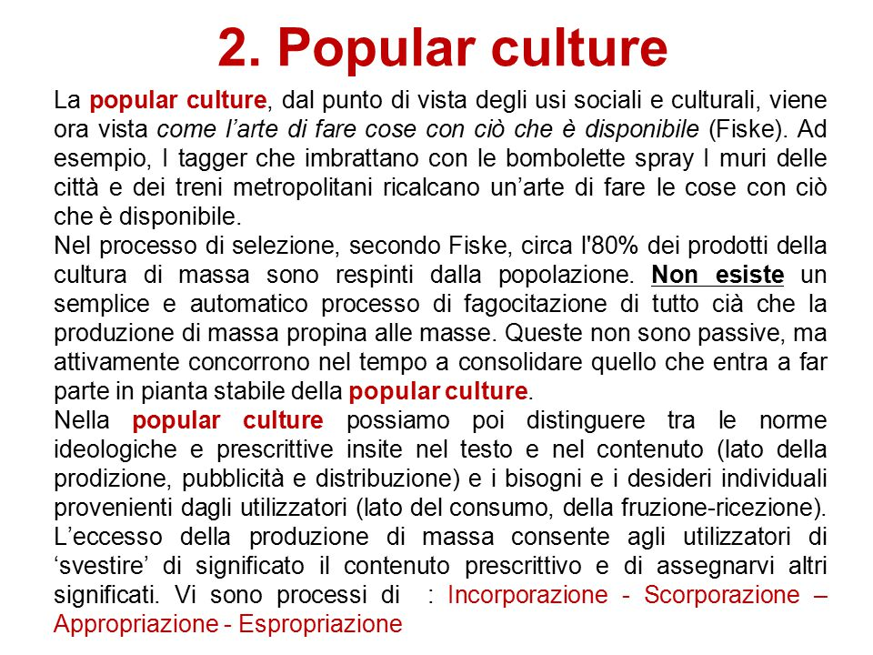 2. Popular culture
