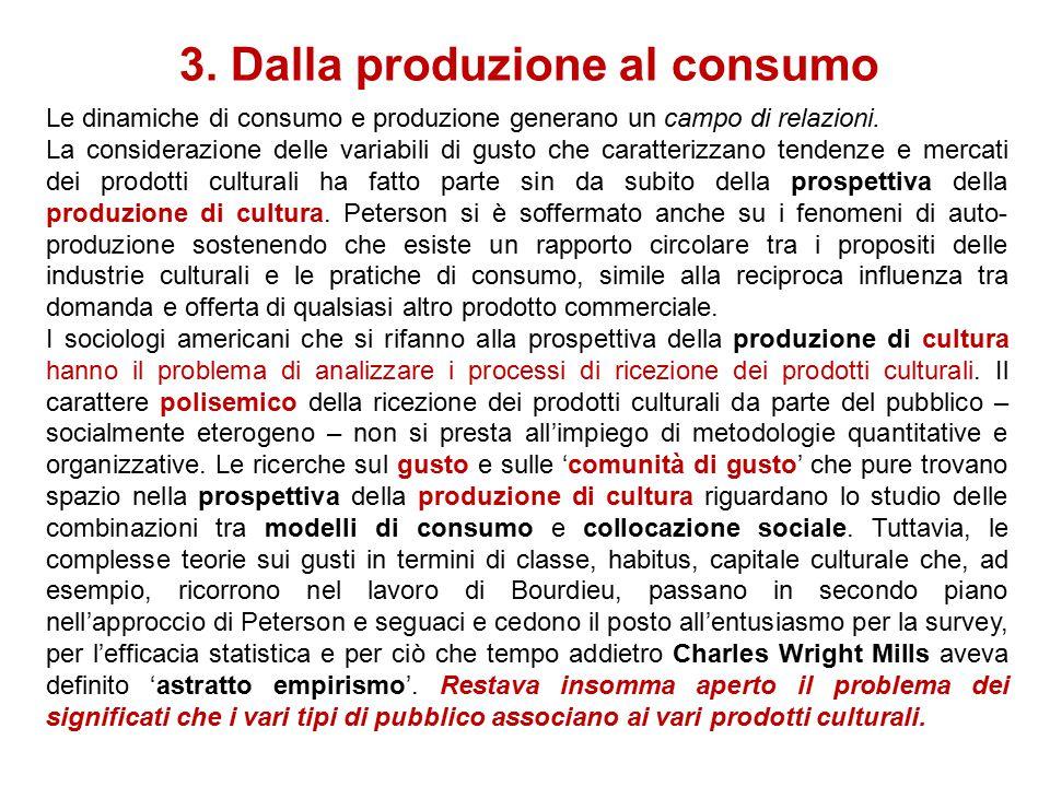 3. Dalla produzione al consumo