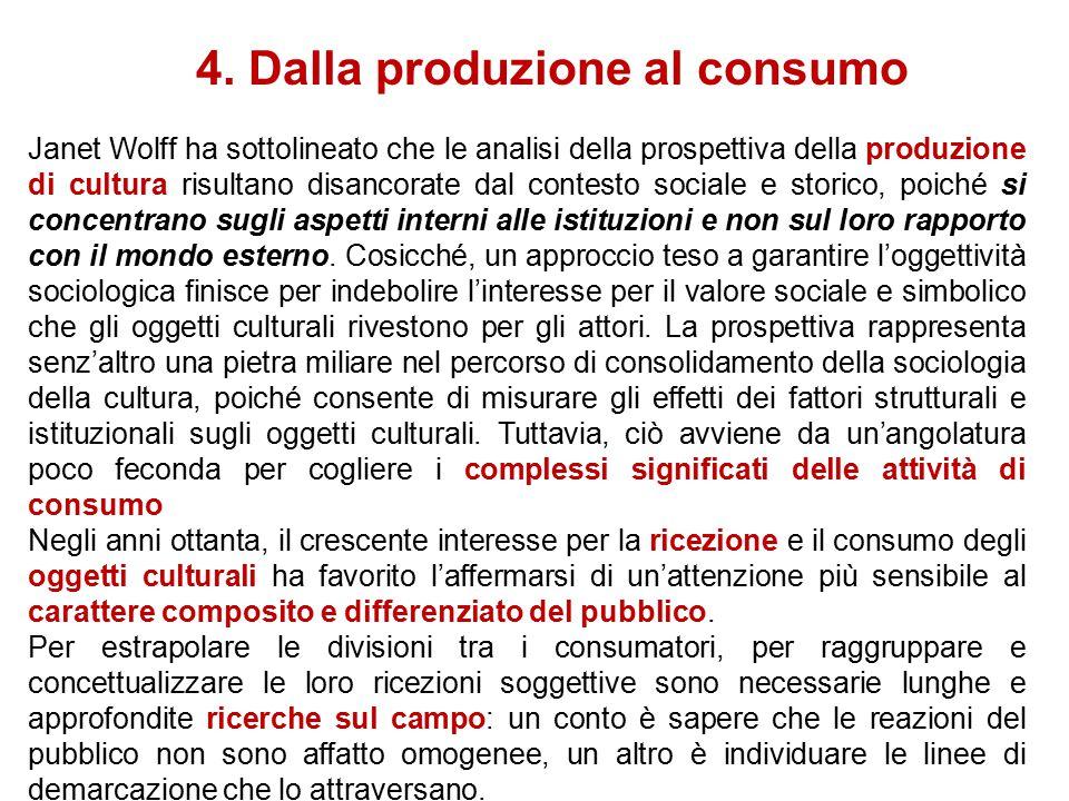 4. Dalla produzione al consumo