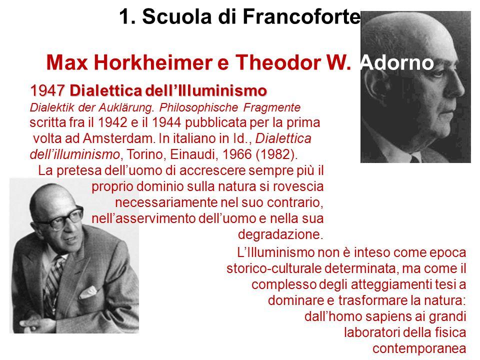 Max Horkheimer e Theodor W. Adorno