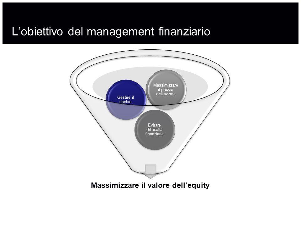 L'obiettivo del management finanziario