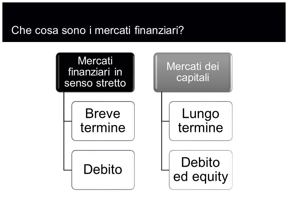 Che cosa sono i mercati finanziari