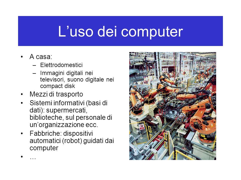 L'uso dei computer A casa: Mezzi di trasporto