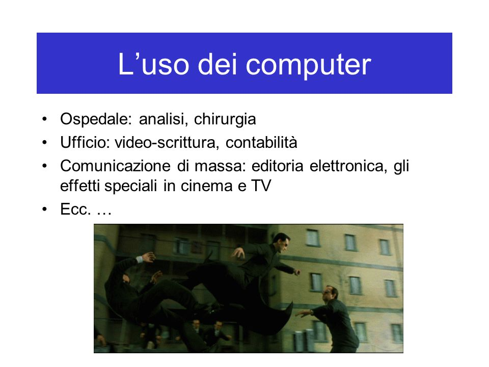 L'uso dei computer Ospedale: analisi, chirurgia