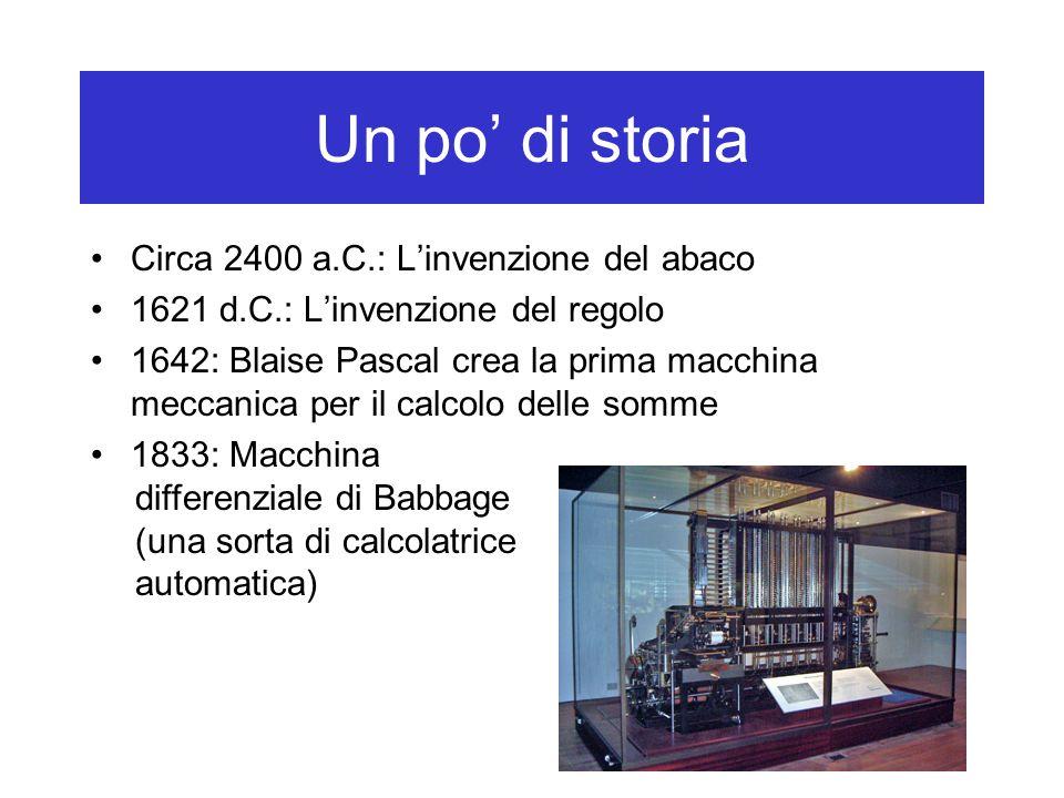 Un po' di storia Circa 2400 a.C.: L'invenzione del abaco
