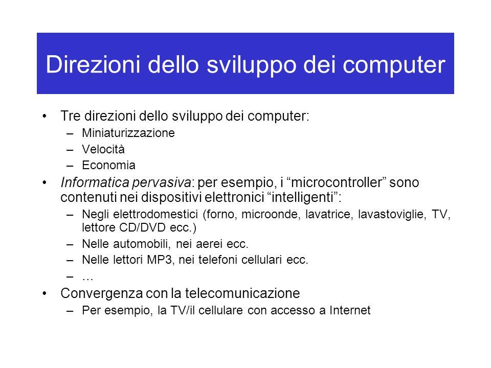 Direzioni dello sviluppo dei computer