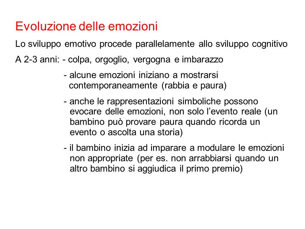 Evoluzione delle emozioni
