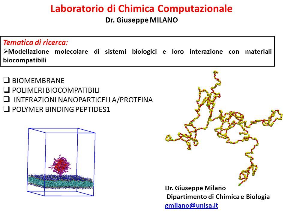 Laboratorio di Chimica Computazionale