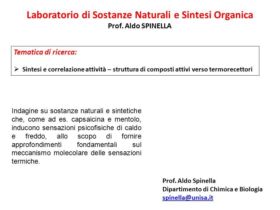 Laboratorio di Sostanze Naturali e Sintesi Organica