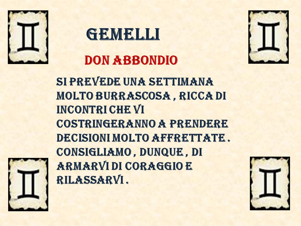 gemelli Don abbondio.