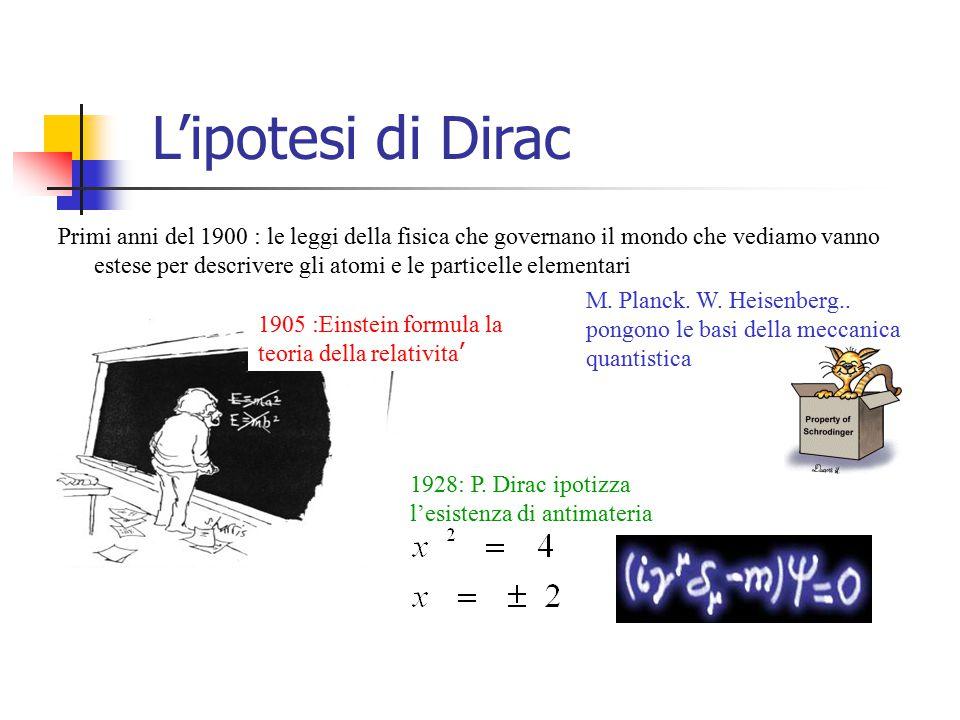 L'ipotesi di Dirac
