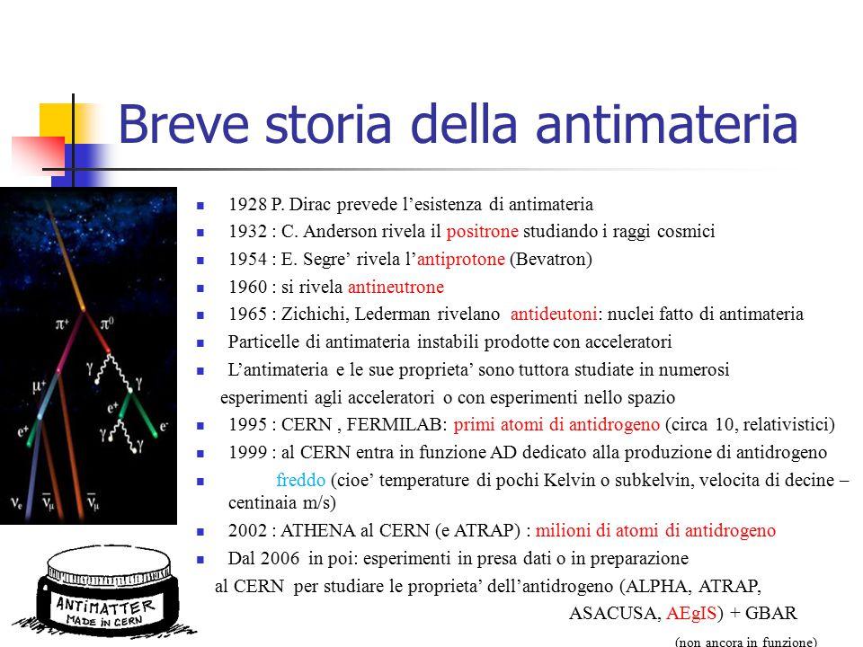 Breve storia della antimateria