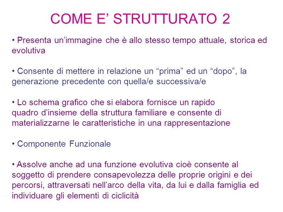 COME E' STRUTTURATO 2 Presenta un'immagine che è allo stesso tempo attuale, storica ed evolutiva.