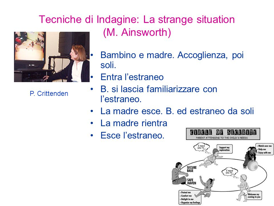 Tecniche di Indagine: La strange situation (M. Ainsworth)