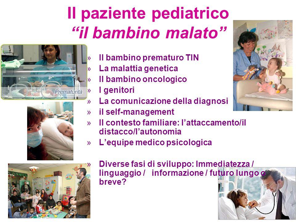 Il paziente pediatrico il bambino malato