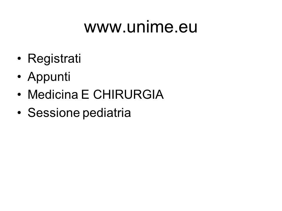 www.unime.eu Registrati Appunti Medicina E CHIRURGIA