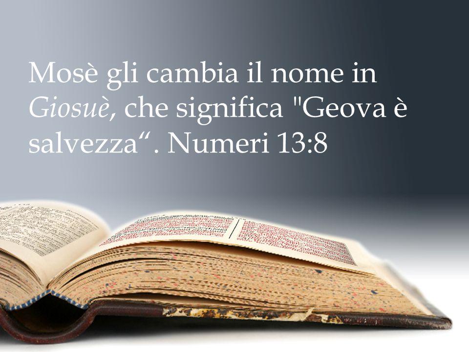 Mosè gli cambia il nome in Giosuè, che significa Geova è salvezza