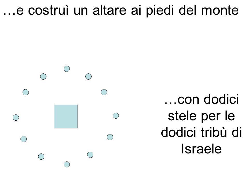 …con dodici stele per le dodici tribù di Israele