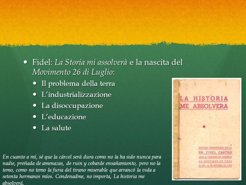Fidel: La Storia mi assolverà e la nascita del Movimento 26 di Luglio: