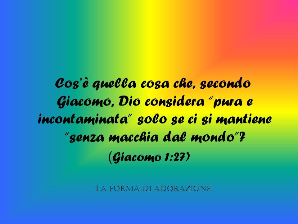 Cos'è quella cosa che, secondo Giacomo, Dio considera pura e incontaminata solo se ci si mantiene senza macchia dal mondo
