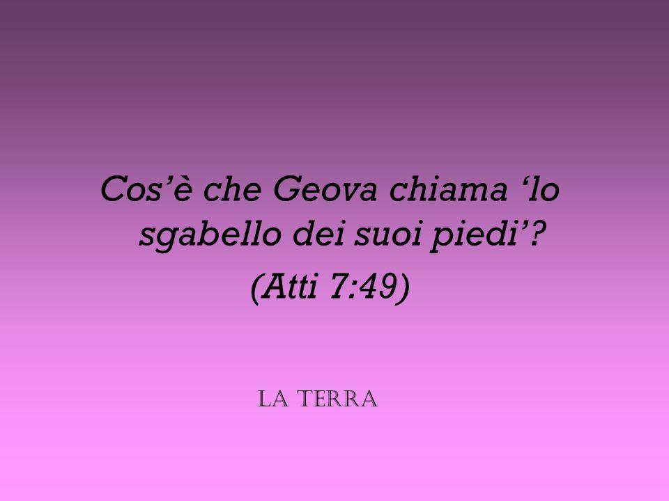 Cos'è che Geova chiama 'lo sgabello dei suoi piedi'