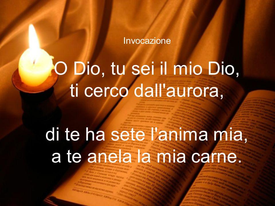 O Dio, tu sei il mio Dio, ti cerco dall aurora,