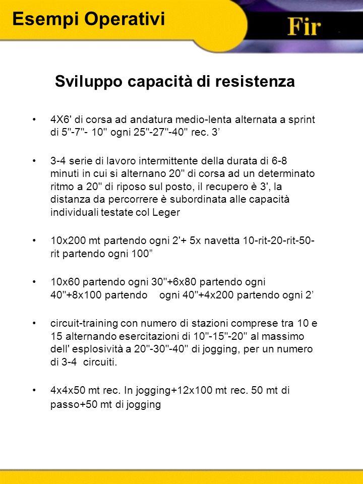 Sviluppo capacità di resistenza