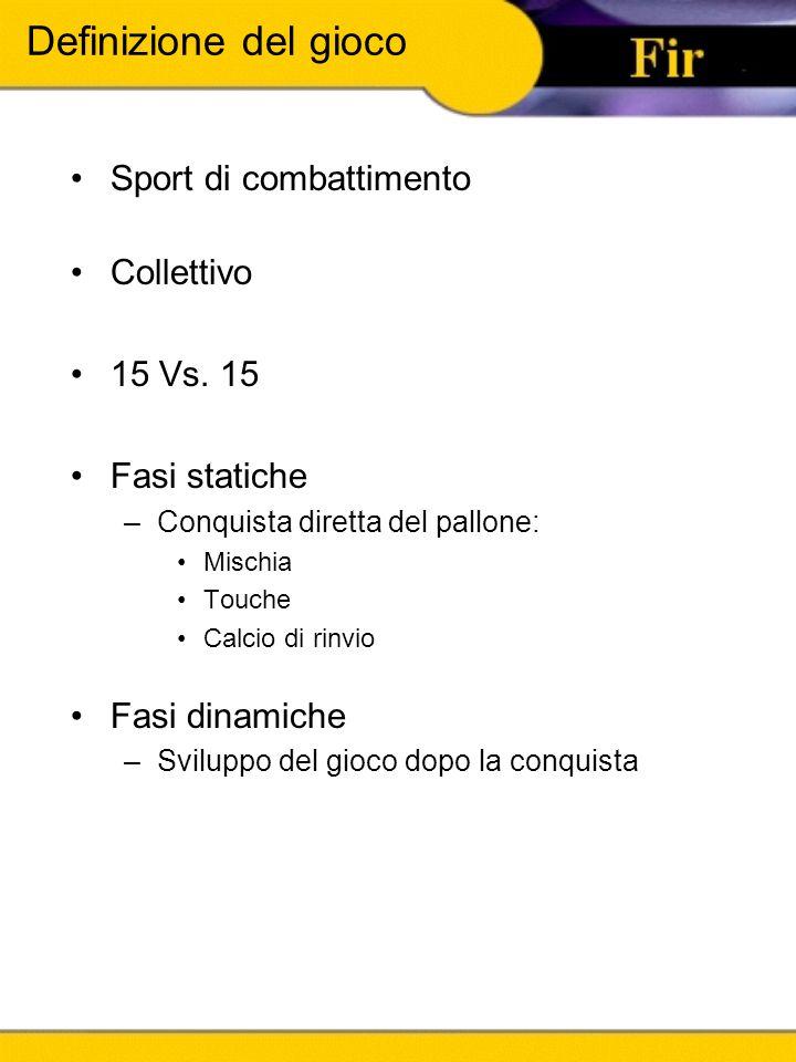 Definizione del gioco Sport di combattimento Collettivo 15 Vs. 15